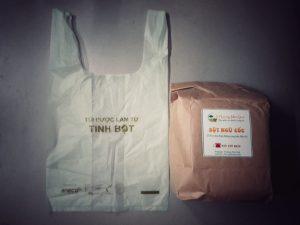 Túi đựng và túi gói của Ngũ Cốc Thương Nhà Quê đều thân thiện với môi trường